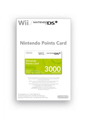 Nintendo Carte A Points (3000) Wii Et Dsi