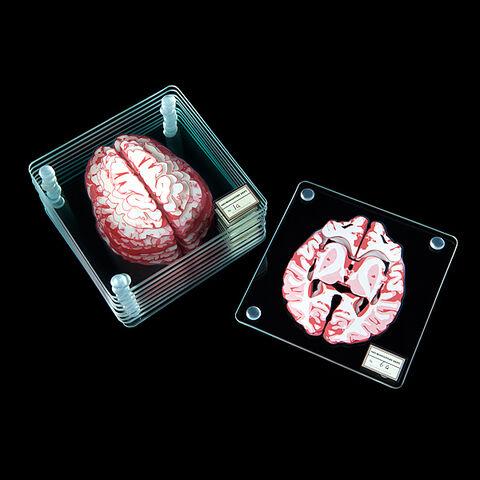 Dessous De Verre - Thinkgeek Coupes De Cerveau (exclu Gs)