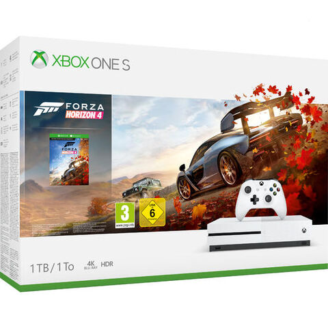 Pack Xbox One S 1to Blanche + Forza Horizon 4