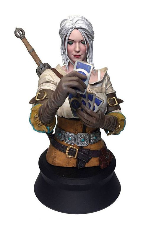 Buste - The Witcher III : Wild Hunt - Ciri jouant au Gwent 20 cm