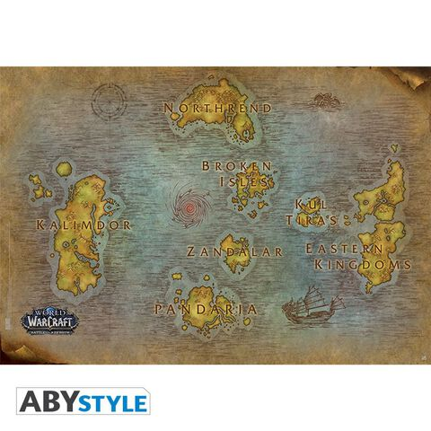 Poster - World Of Warcraft - Carte (91.5 X 61 Cm)