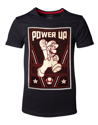 T-shirt - Nintendo - Mario Power Up - Taille L