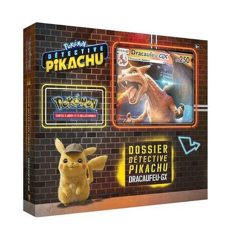 Coffret Detective - Pokémon - Pikachu Dracaufeu-gx 6 Boosters