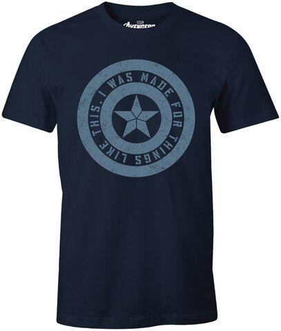 T-shirt Homme - Avengers - Endgame I Was Made For - Bleu Marine - Taille L