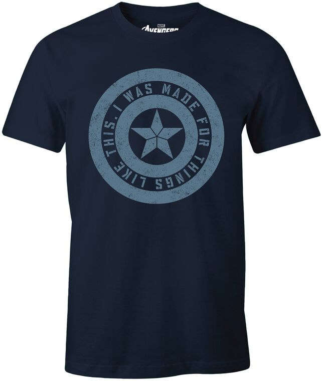 T-shirt Homme - Avengers - Endgame I Was Made For - Bleu Marine - Taille M