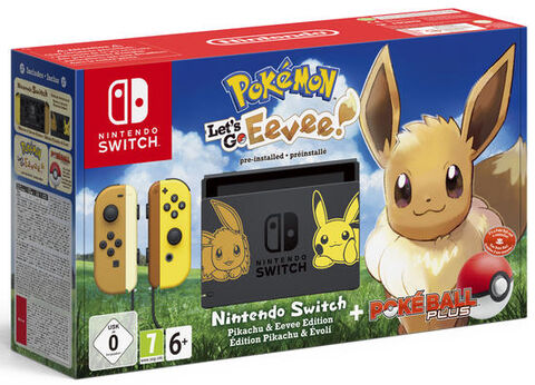 Pack Nintendo Switch Edition Pikachu Et Evoli  + Pokemon: Let's Go, Evoli  Prein