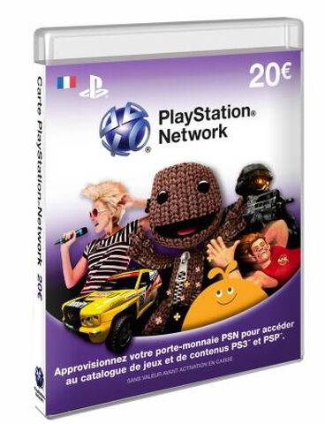 Carte Prépayée PlayStation Network (PSN) 20 euros - PS4 - PS3 - PS Vita