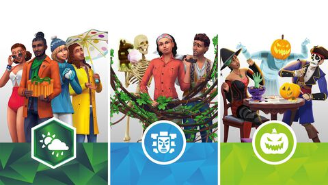 Les Sims 4 - DLC - 4 Saisons, Jungle, Accessoires effrayants - Version digitale