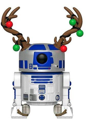 Figurine Funko Pop! N°275 - Star Wars - Holiday R2-D2 avec bois