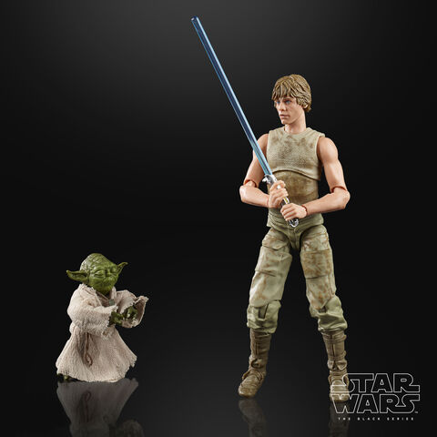 Figurine - Star Wars - Black Series Figurine - Luke Skywalker et Yoda