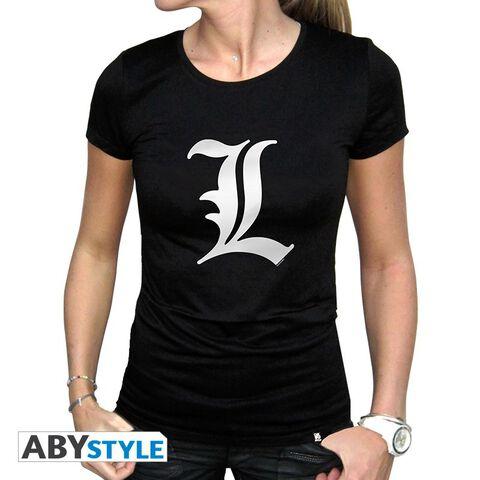 T-shirt Femme - Death Note - L Tribute - Noir - Taille M