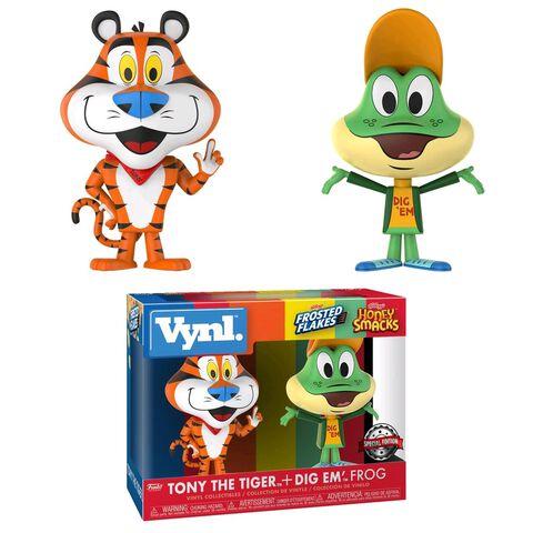 Figurine Vynl - Icones - Twin Pack Tony Le Tigre et Dig Em' Frog Smacks