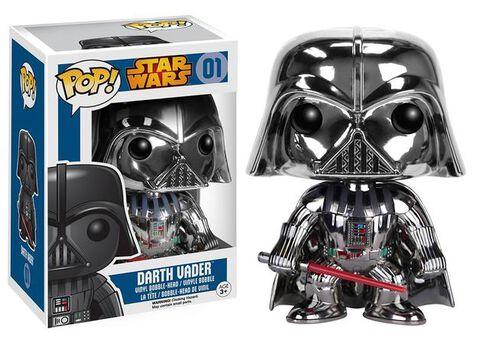 Figurine Funko Pop! N°01 - Star Wars - Dark Vador Chrome