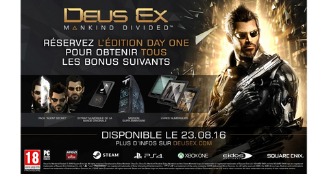 Deus Ex Mankind Divided Edition Steelbook