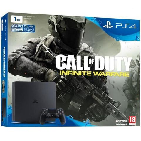 Pack Ps4 Slim 1to Noire + Cod Infinite Warfare (br)