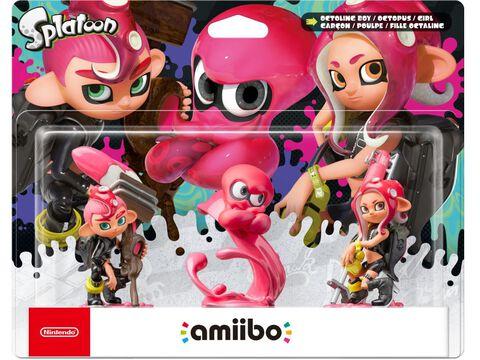 Pack 3 Amiibo Splatoon fille d'octaling + garçon d'octaling + poulpe d'octaling