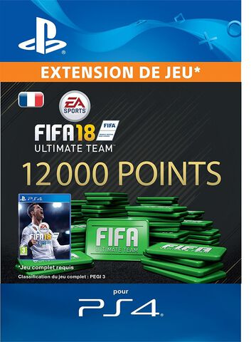 FIFA 18 Ultimate Team 12 000 Pts Ps4
