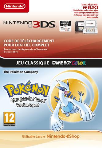 Pokemon Version Argent (code Téléchargement En Boite)
