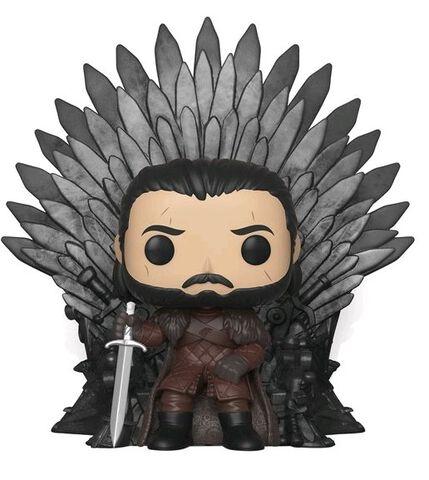 Figurine Funko Pop! N°72 - Game of Thrones S10 - Jon Snow assis sur le trône