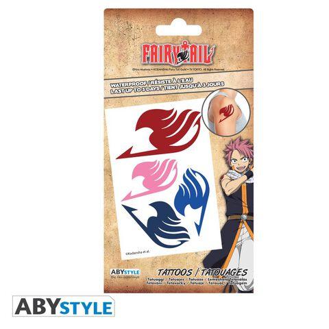 Tatouages - Fairy Tail - Kit 5 Tatouages 15x10cm