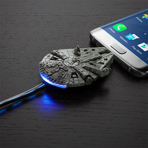 Chargeur - Star Wars - Faucon Millenium Micro-usb (exclu Gs)