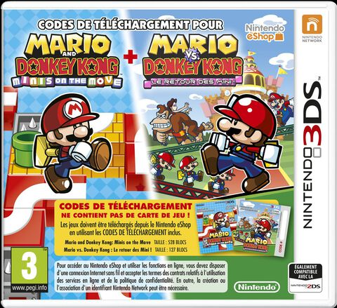 Mario & Donkey Kong Minis On The Move + March Again sur 3DS, tous ...