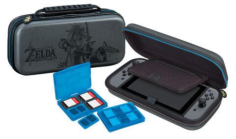 Pochette de transport Zelda + 4 boitiers de rangement - Licence Nintendo