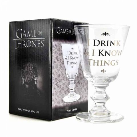Verre à vin - Game of Thrones - I Drink And I Know Things
