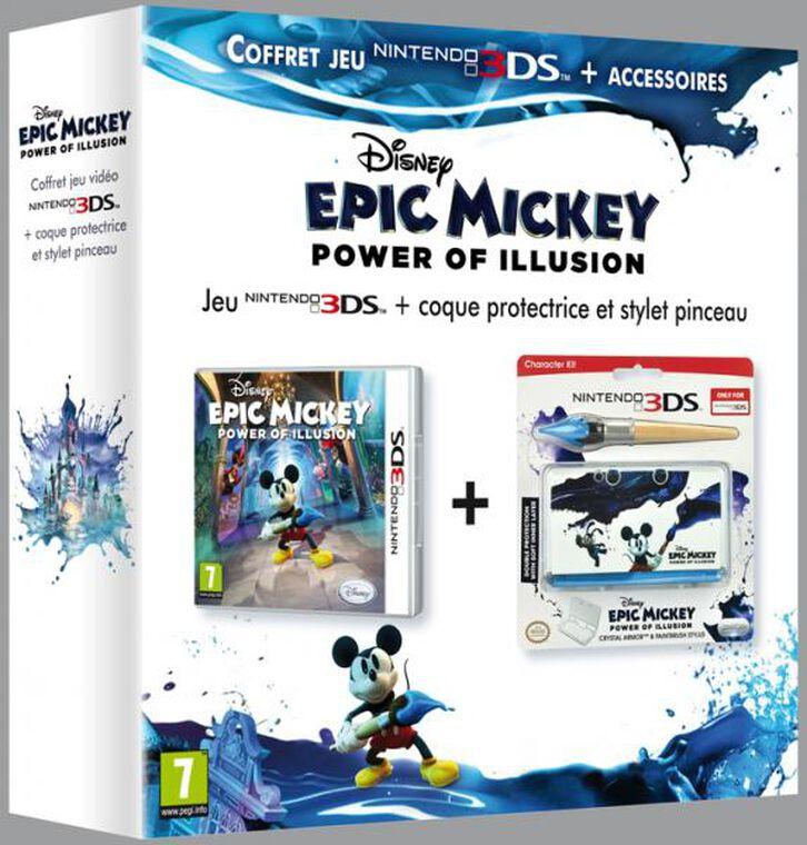 Bundle Disney Epic Mickey : Power Of Illusion + Coque + Stylet
