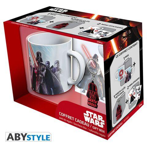 Coffret - Star Wars - Mug 320ml + Porte-clés Pvc + Sticker Vador