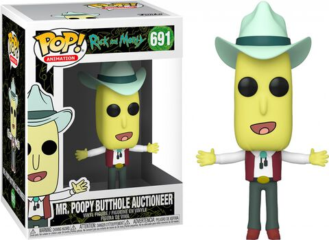 Figurine Funko Pop! N°691 - Rick Et Morty - Poopy Butthole Commissaire-priseur
