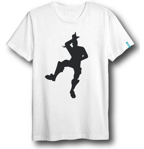 T-shirt Enfant - Fortnite - Danse noir sur blanc