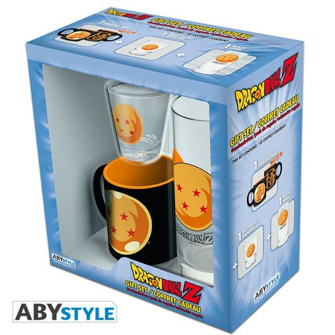 Coffret - Dragon Ball - Verre 29 cl + Shooter + Mini Mug Boule de cristal