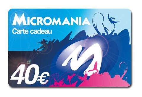 Carte Cadeau Micromania 40 euros