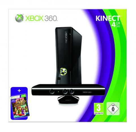 Pack Xbox 360 4 Go + Kinect Incluant Kinect Adventures