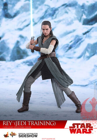 Figurine Hot Toys - Star Wars Episode VIII - Rey Entraînement Jedi
