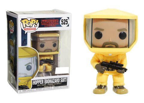 Figurine Funko Pop! N°525 - Stranger Things - Hopper Avec Combinaison Bio Hazard