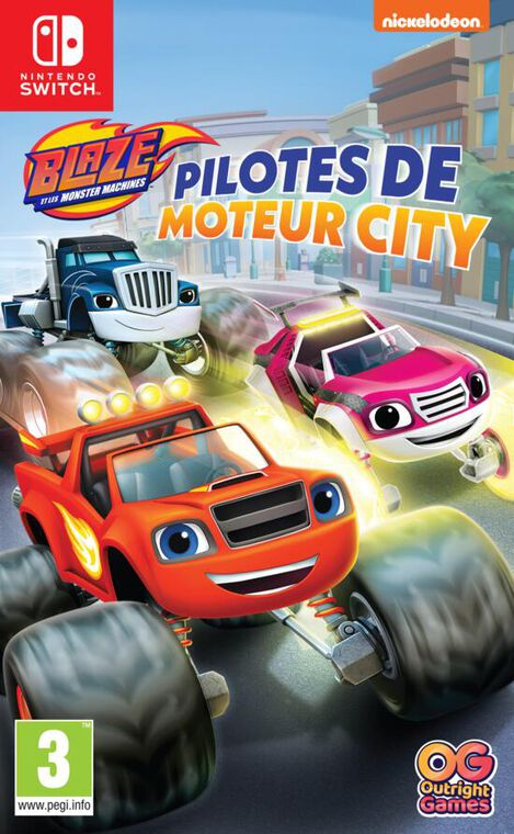 Blaze Et Les Monster Machines Pilotes De Moteur City