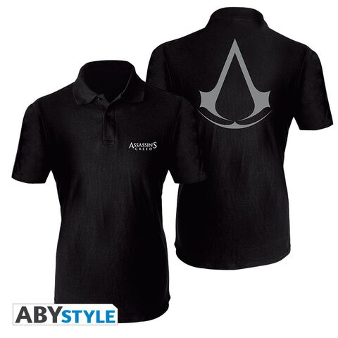 Polo Homme - Assassin's Creed - Crest - Noir - Taille S