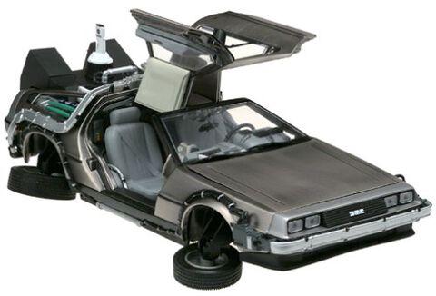 Figurine - Retour Vers Le Futur II - Delorean Lk Coupe 1983 1/18 Métal