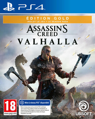 Assassin's Creed Valhalla Edition Gold - Versions PS5 et