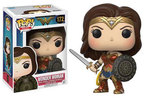 Figurine Funko Pop! N°172 - Wonder Woman - Wonder Woman avec épée et bouclier