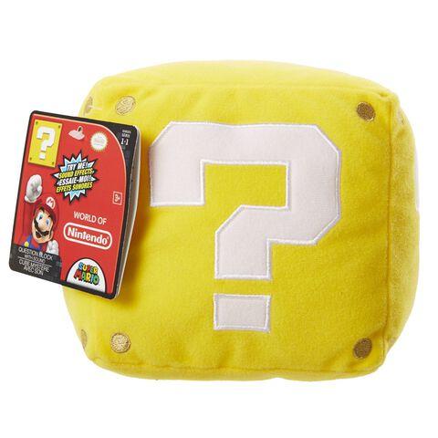 Nintendo - Peluche Sonore Cube jaune 13 cm