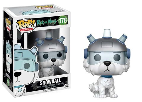 Figurine Funko Pop! N°178 - Rick et Morty - Snowball Floqué