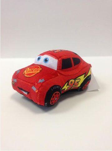 Peluche - Cars - Voiture à friction Flash McQueen 20 cm