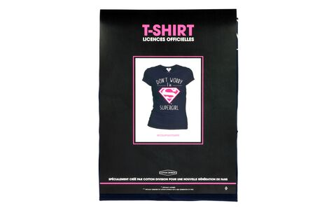 T-shirt Femme - Don't Worry I'm Supergirl - Navy - Taille M