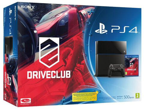 Pack PS4 Noire + DriveClub