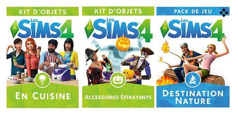 Les Sims 4 - DLC - Bundle : En Cuisine + Accessoires Effrayants + Destination Nature - Version digitale