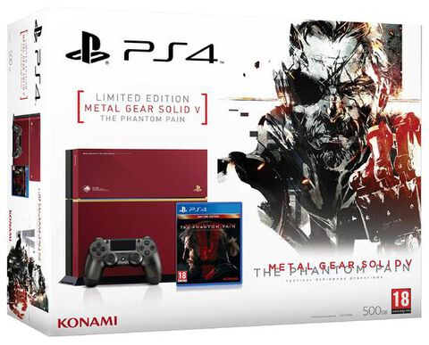 Pack PS4 500 Go C Edition Spéciale + Metal Gear Solid V : The Phantom Pain
