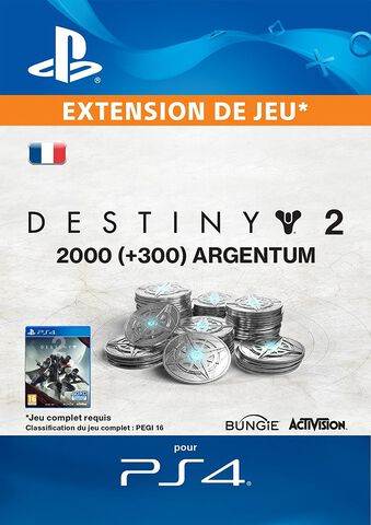 Dlc Destiny 2 - 2000 (+ 300 En Bonus) Argentum De Destiny 2